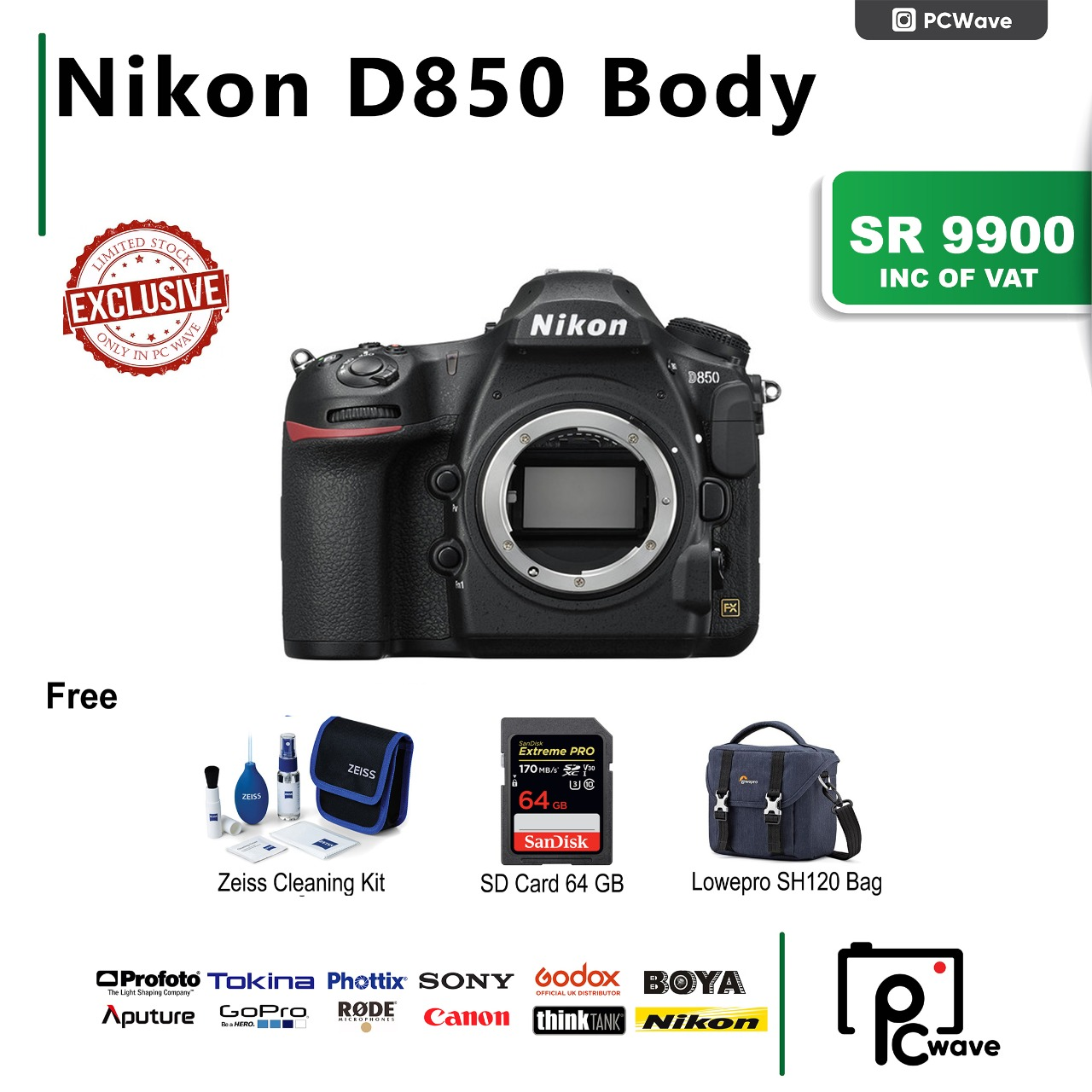 Nikon D850 DSLR Camera Body Only