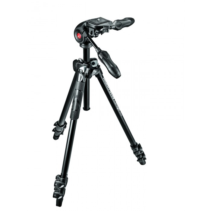 Manfrotto 290 Light Alu 3-Section Tripod Kit With MH293D3 3-Way Head (MK290LTA3-3W)