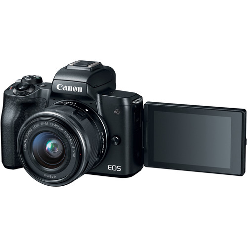 Canon EOS M50 Mirrorless Digital Camera with 15-45mm Lens (Black