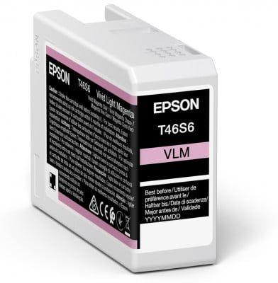 Epson T46S6 Vivid Light Magenta Ink Cartridge (25ml) C13T46S600
