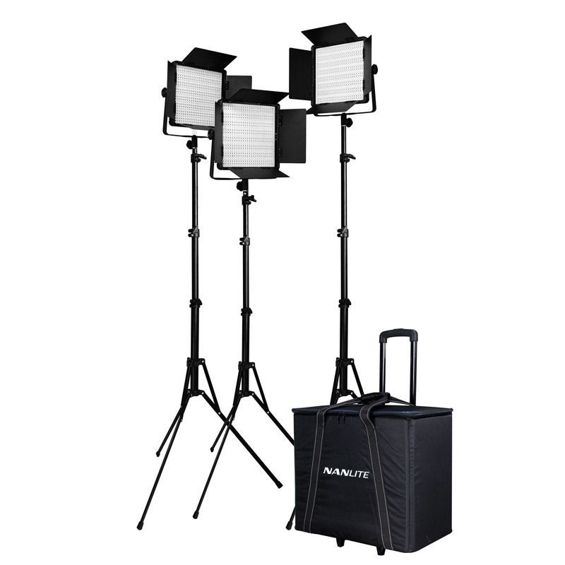 Nanlite 600SA 3KIT+T with 186 Light stand + Roller bag