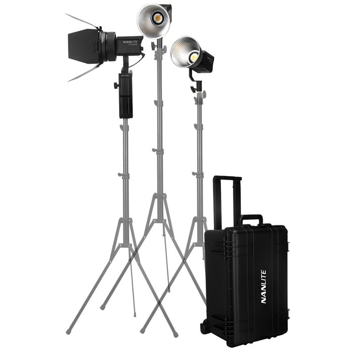 Nanlite Forza 60 3 Head Kit With Hard Trolley Bag