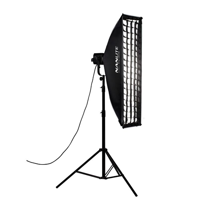 Nanlite Asymmetrical Softbox of 45x110 cm with Grid