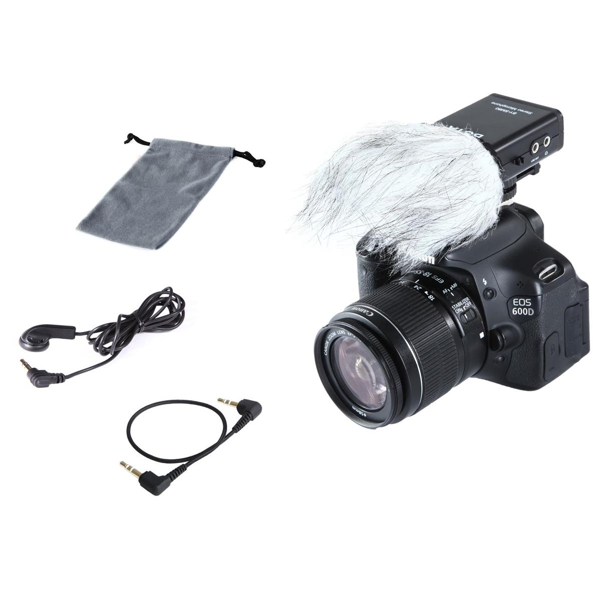 BOYA BY-SM80 Stereo Condenser Microphone for DSLR Camera, Video Camera, Audio Recorder