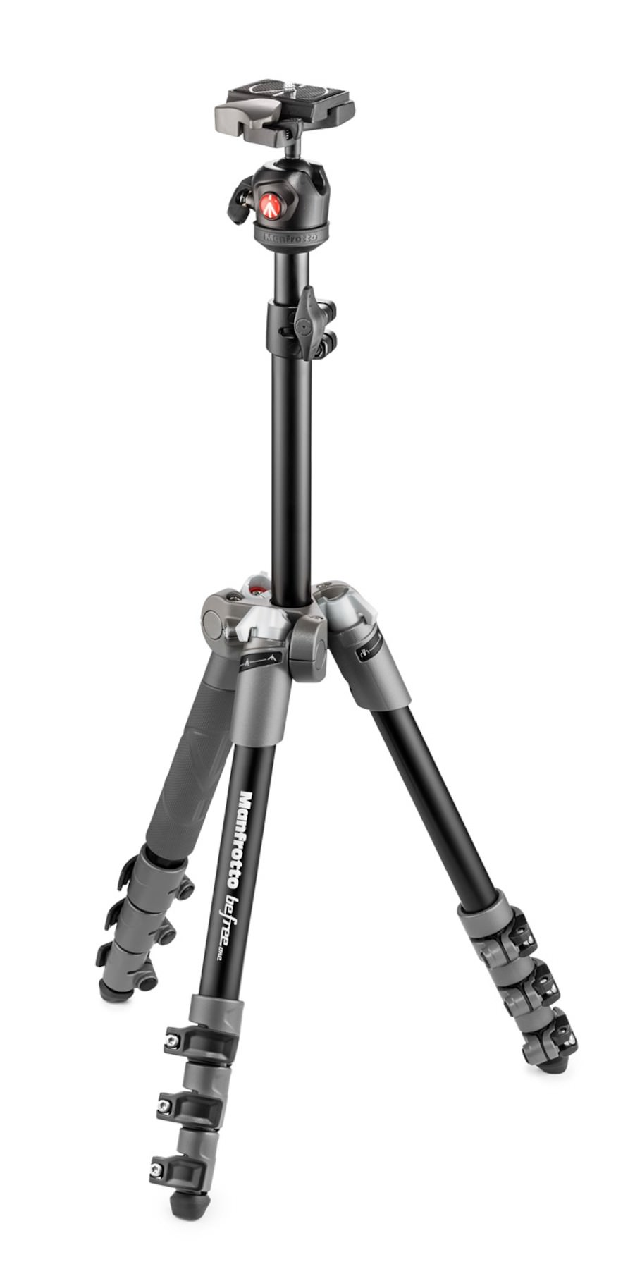 BeFree One Aluminium Travel Tripod with Head, grey